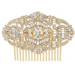 Comb Gatsby gold round