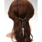 Double barrette crystal blossom