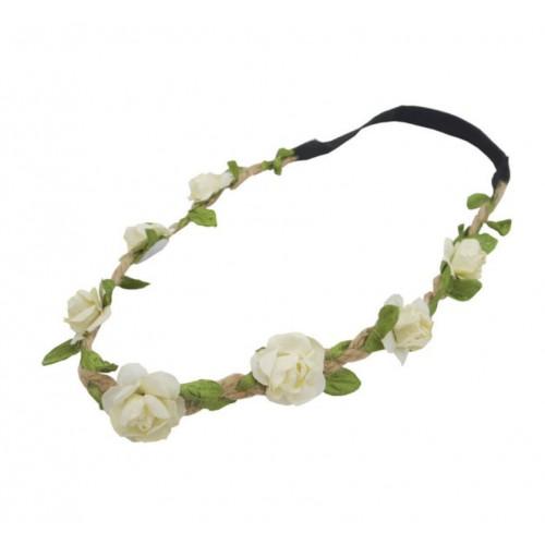 Headband elastic crystal green