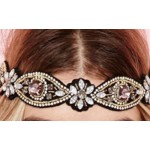 Headband elastic geometric crystal