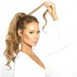 Wrap around ponytail